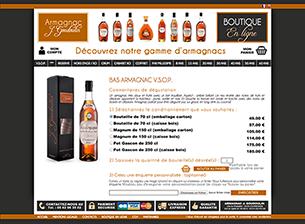 Boutique en ligne de vente d'armagnacs Visiter le site
