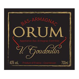 Etiquette bouteille d'Armagnac